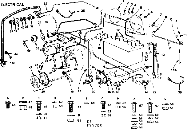 Craftsman model 917257081 lawn, tractor genuine parts