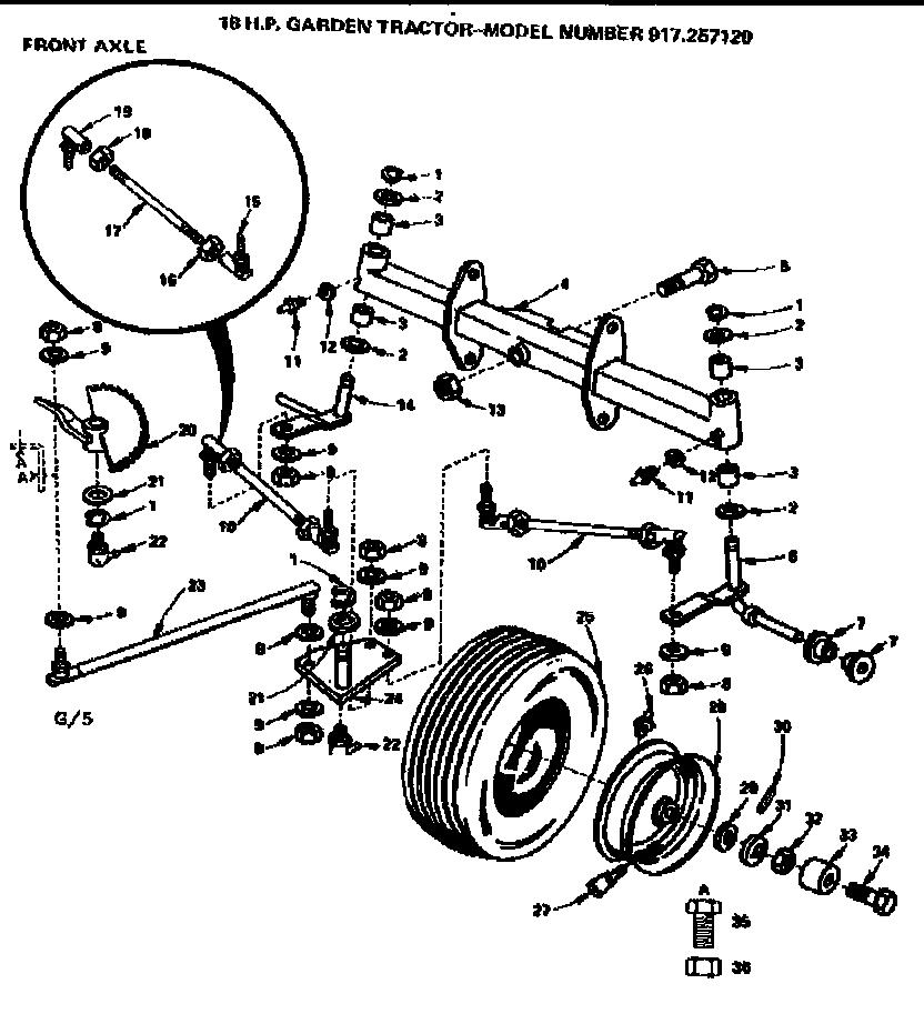 Craftsman model 917257120 lawn, tractor genuine parts