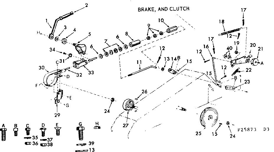 Craftsman model 91725873 lawn, tractor genuine parts