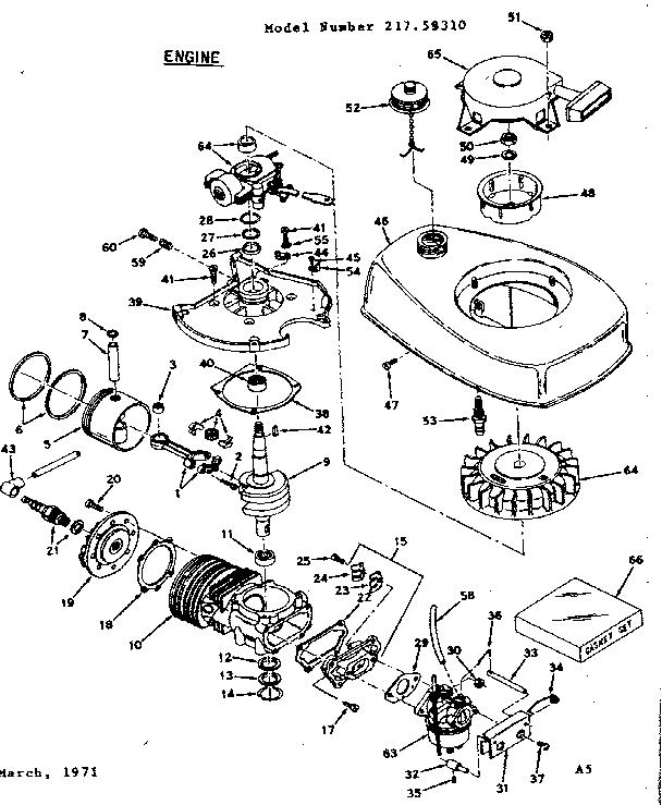Craftsman model 21759310 boat motor gas genuine parts