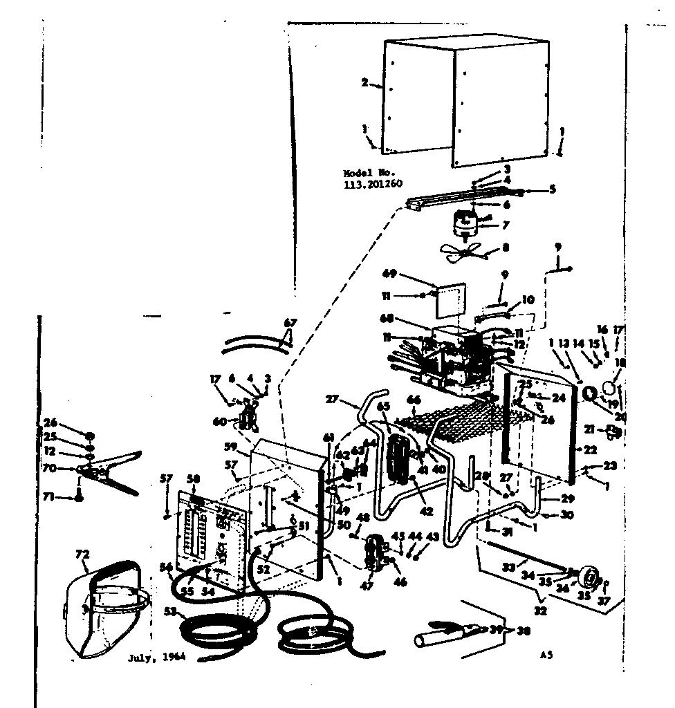 Craftsman model 113201260 welder genuine parts