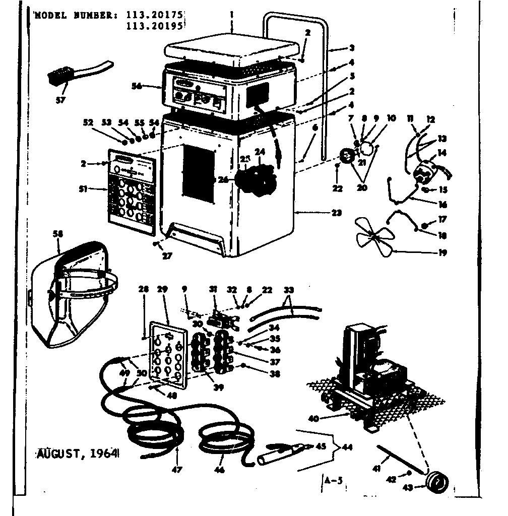 Craftsman model 11320195 welder genuine parts