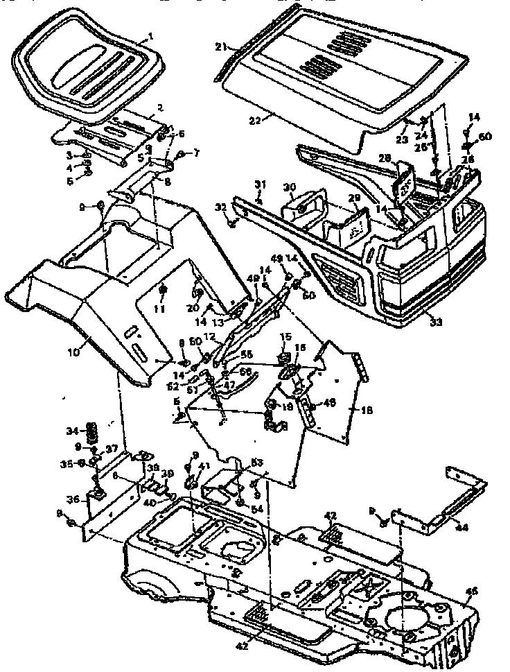 Craftsman model 502255751 lawn, tractor genuine parts