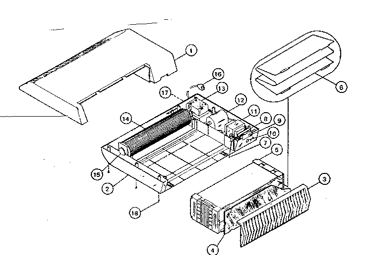 Kenmore model 635830100 air cleaner genuine parts