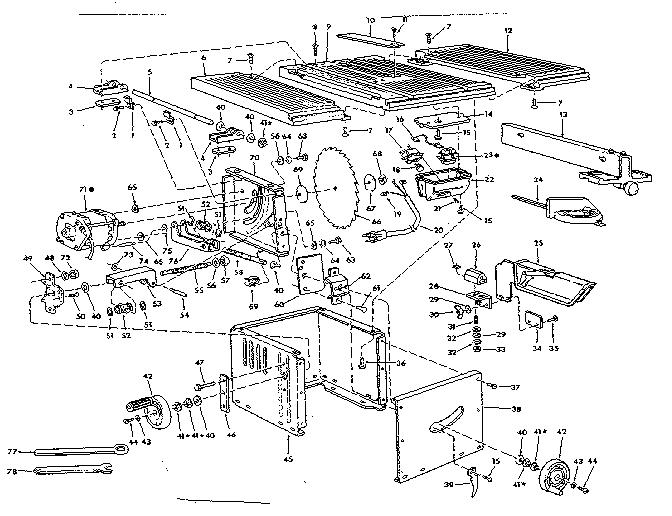 Craftsman model 113221611 saw radial genuine parts