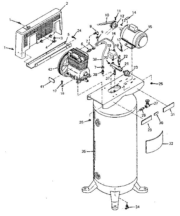 Craftsman model 919171250 air compressor genuine parts
