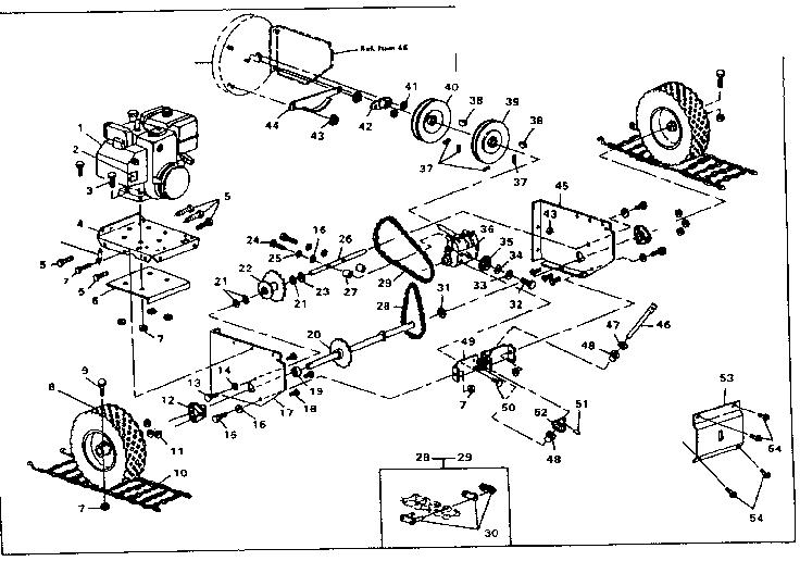 Craftsman model 536882700 snowthrower, gas genuine parts