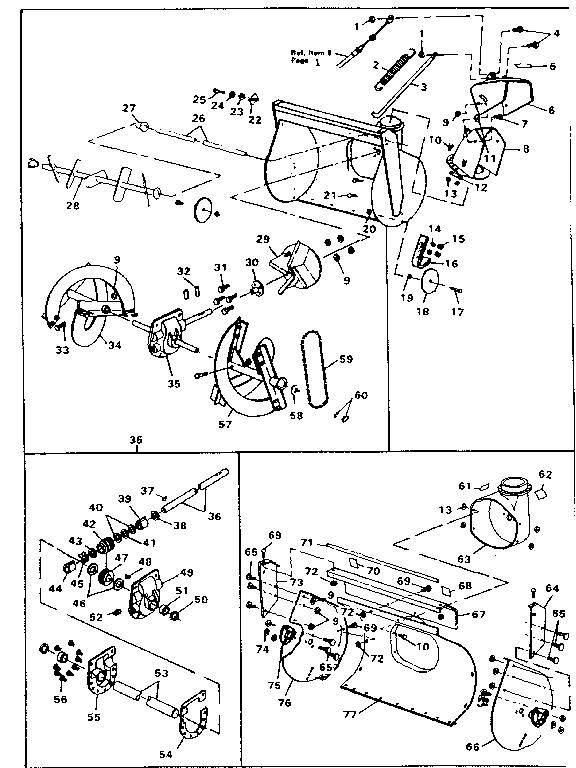 Craftsman model 536882701 snowthrower, gas genuine parts