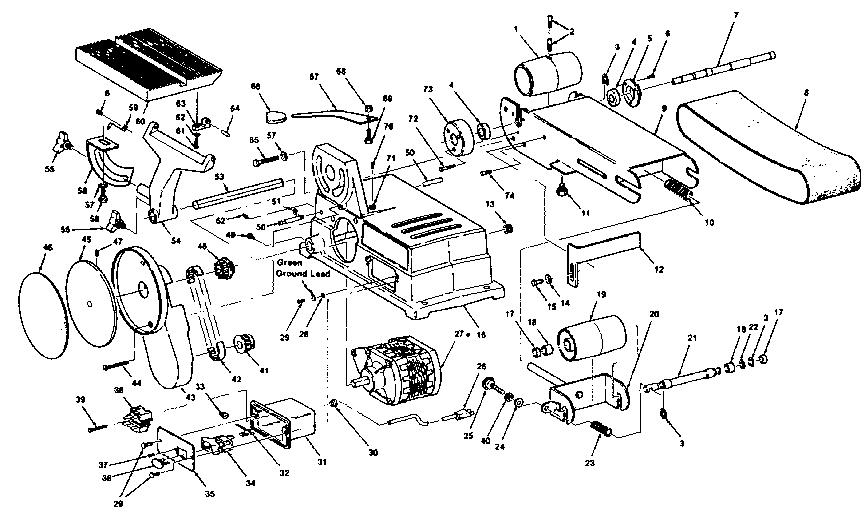 Craftsman model 113226421 sander genuine parts