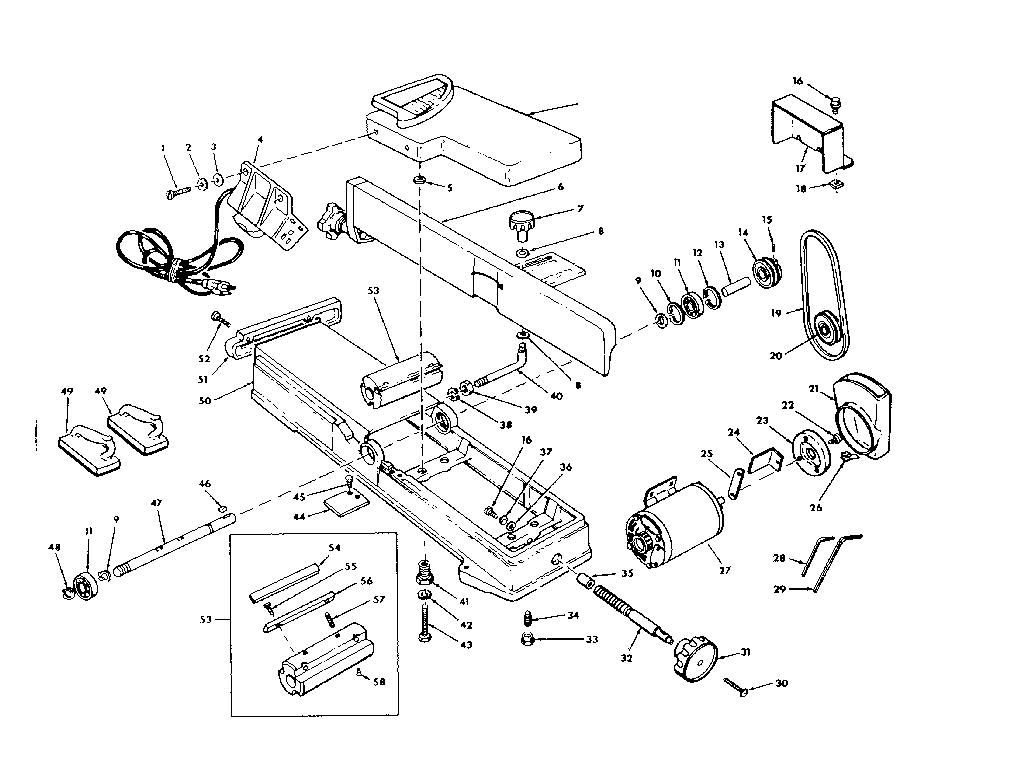 Craftsman model 113206933 jointer/planer genuine parts