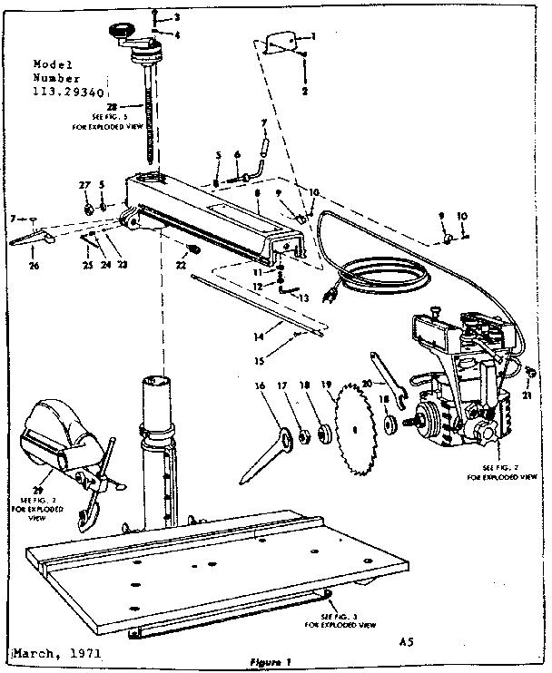 Craftsman model 11329340 saw radial genuine parts
