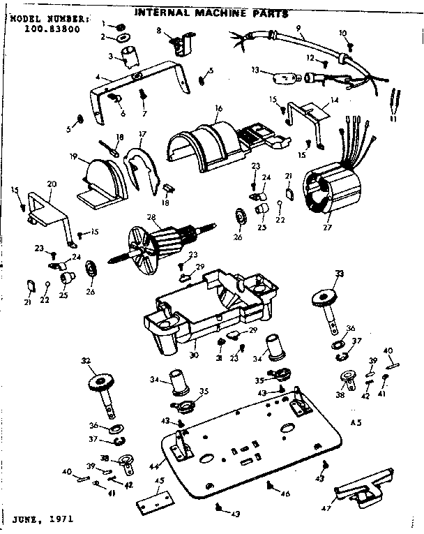 Kenmore model 10083800 floor scrubbers/polishers genuine parts