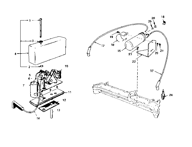 Onan model N52M-GA019/3411A engine genuine parts