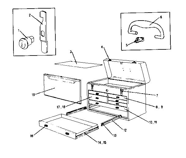 Craftsman model 706652271 tool chest genuine parts
