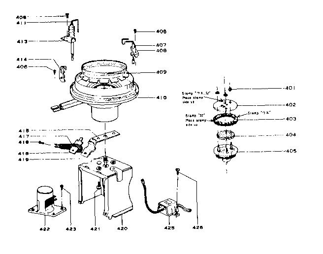 Comfort-Glow model PHS/D heater, kerosene genuine parts