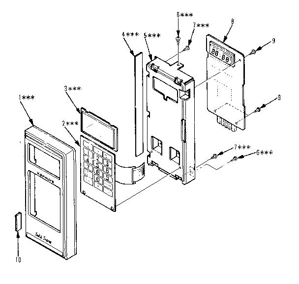 Kenmore model 5648748610 countertop microwave genuine parts