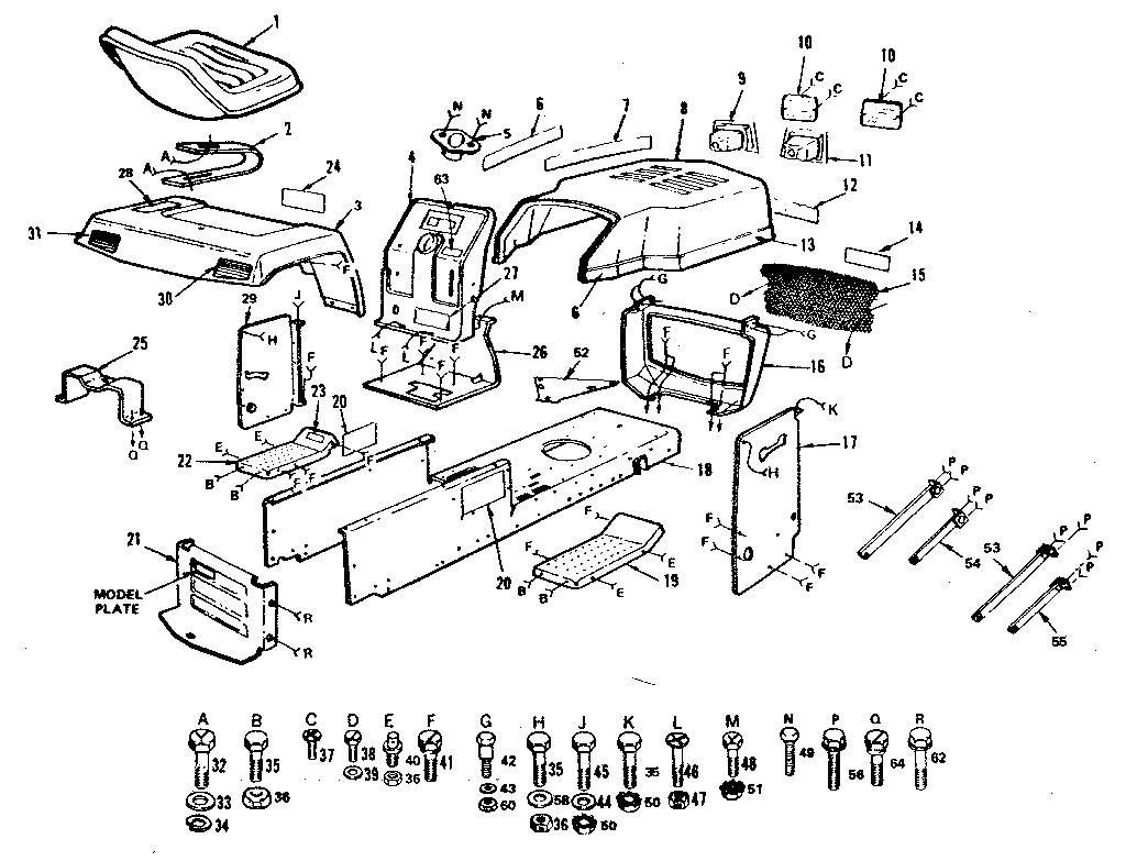 Craftsman model 917252681 lawn, tractor genuine parts