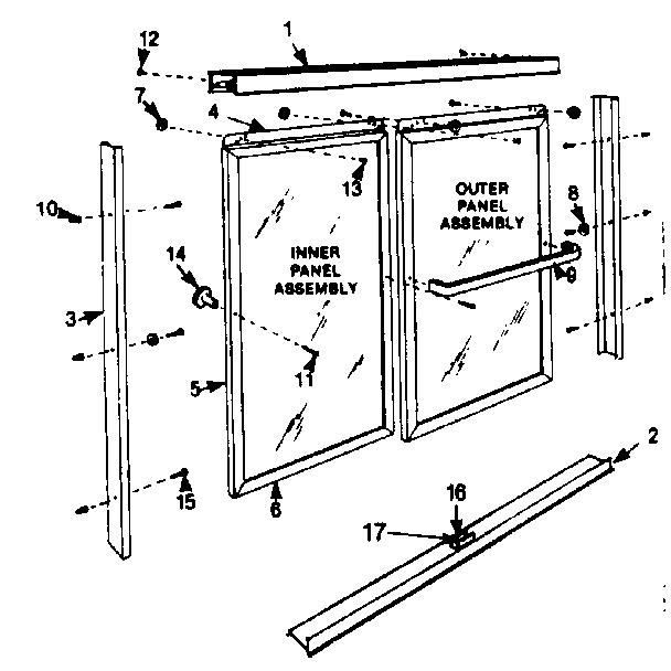 Sears model 503681710 shower door genuine parts