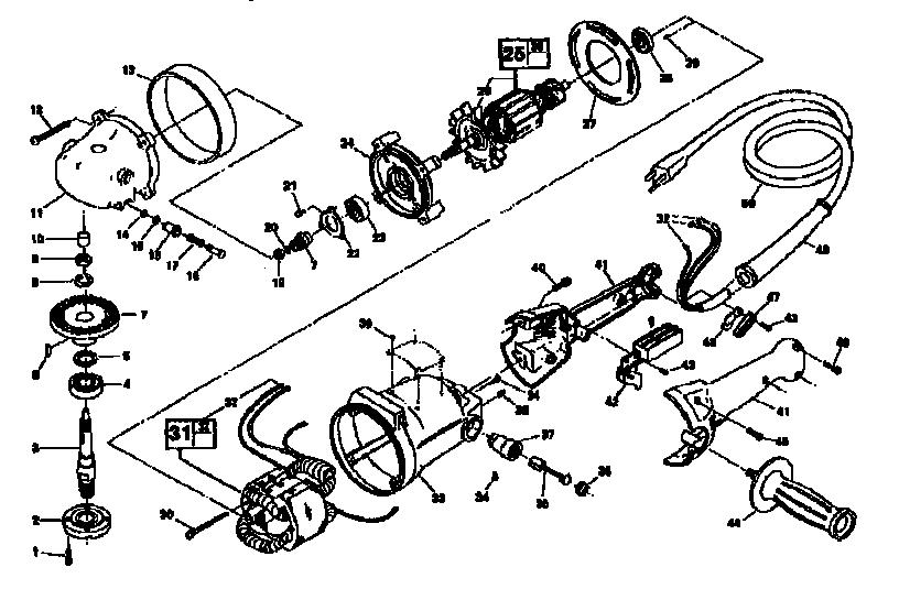 Craftsman model 135277420 grinder hand genuine parts