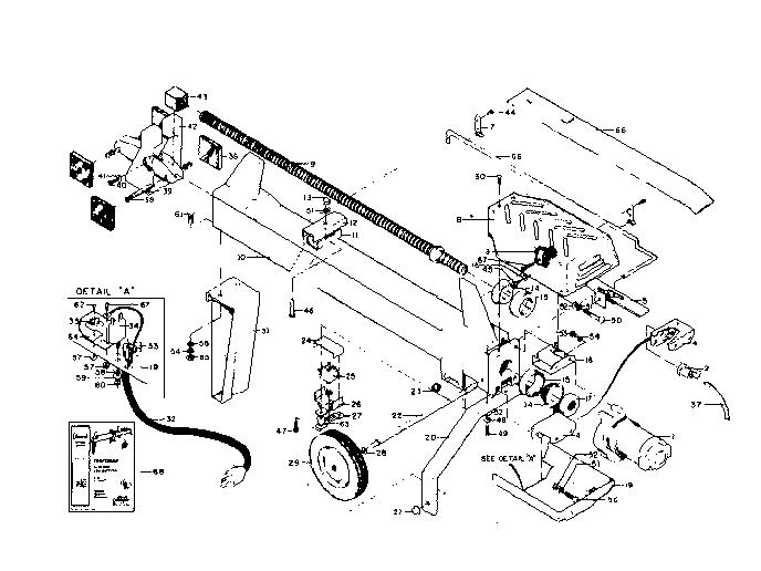 Craftsman model 83328750 log splitter genuine parts
