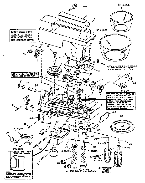 Oster model 980-16 kitchen equipment genuine parts
