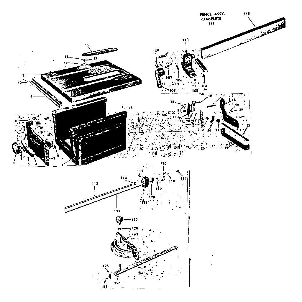 Craftsman model 10322160 saw genuine parts