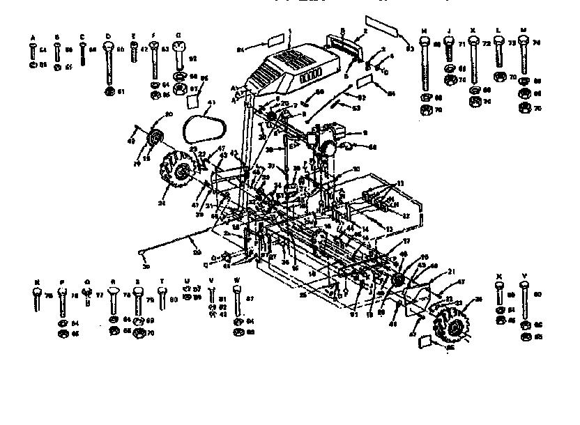 Craftsman model 917299680 rear tine, gas tiller genuine parts