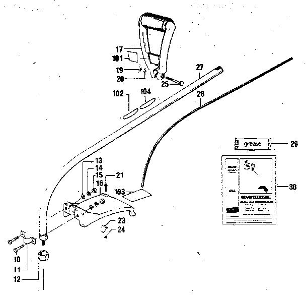 Craftsman model 358796121 line trimmers/weedwackers, gas genuine parts