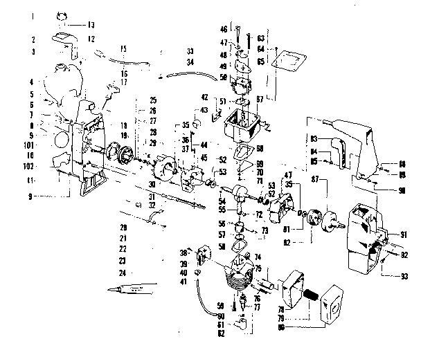 Craftsman model 358796120-1980 line trimmers/weedwackers