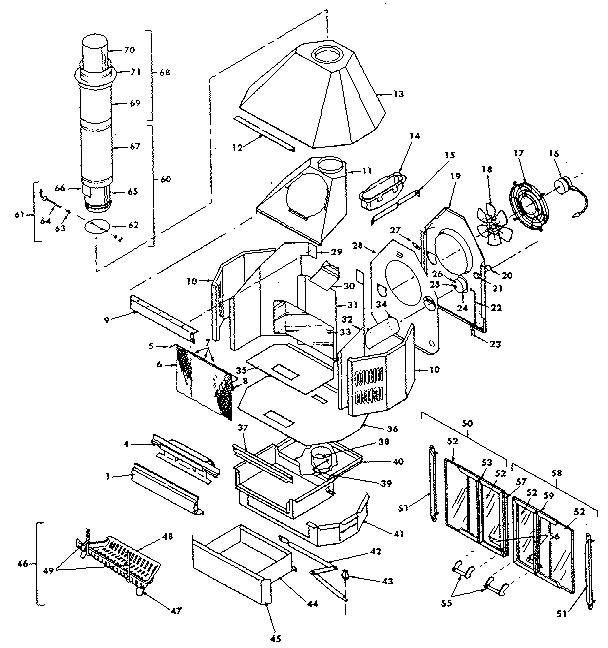Preway model FB26F-A-C fireplace genuine parts