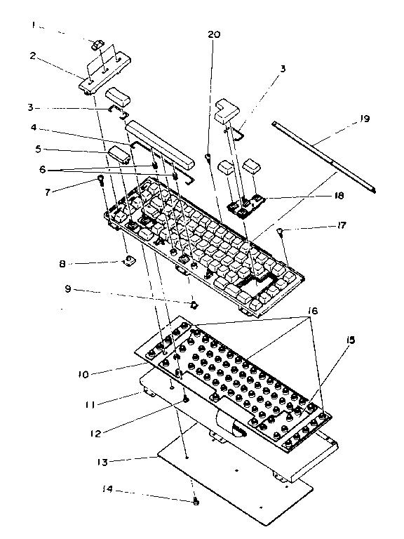 Sears model 16153036550 typewriter genuine parts