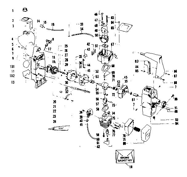 Craftsman model 358796110-1980 line trimmers/weedwackers