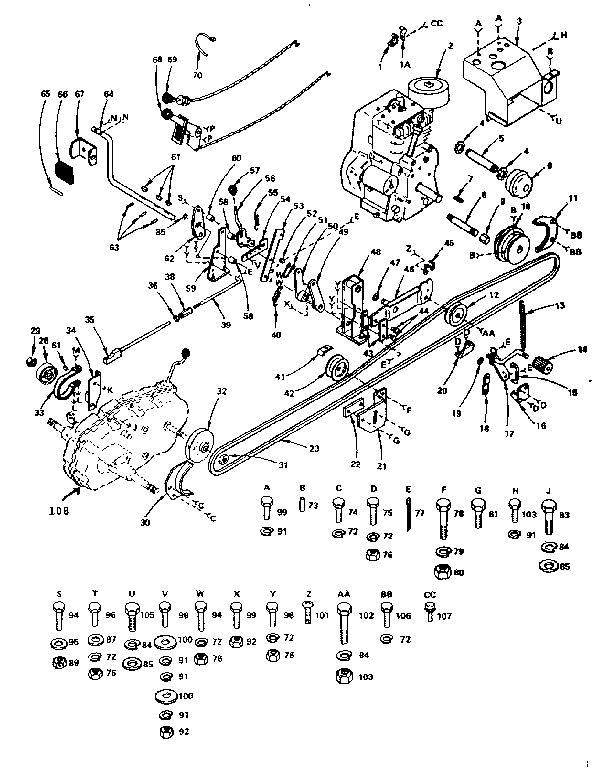 Craftsman Model 917 Drive Belt Diagram, Craftsman, Free