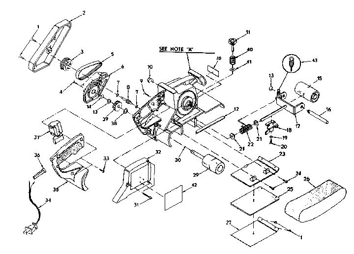 Craftsman model 315117130 sander genuine parts