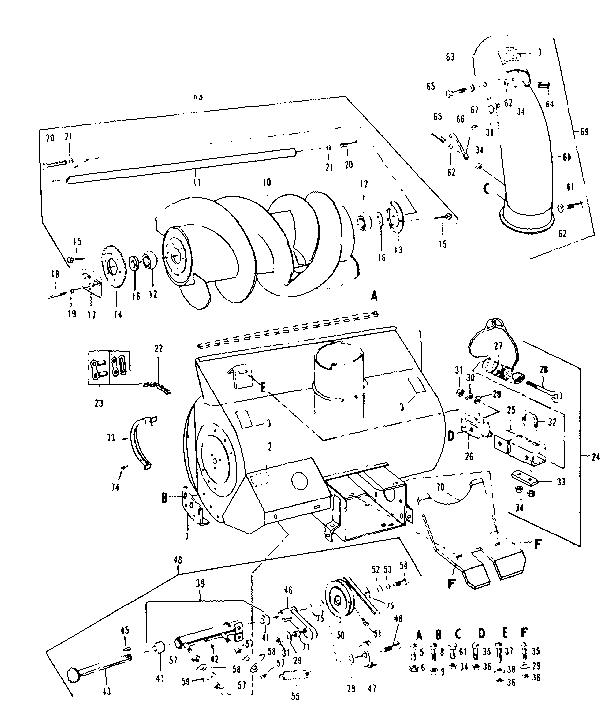 Craftsman model 84224061 snow thrower attachment genuine parts
