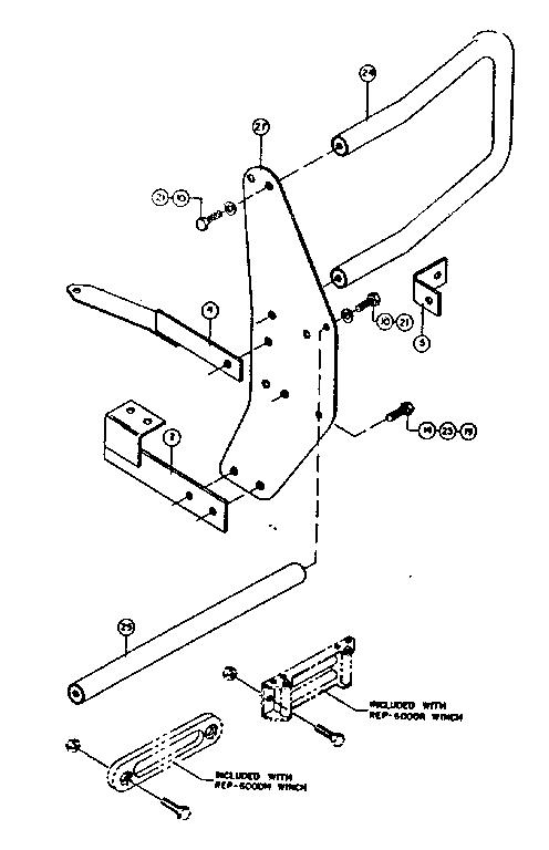 Craftsman model 3957 winch genuine parts