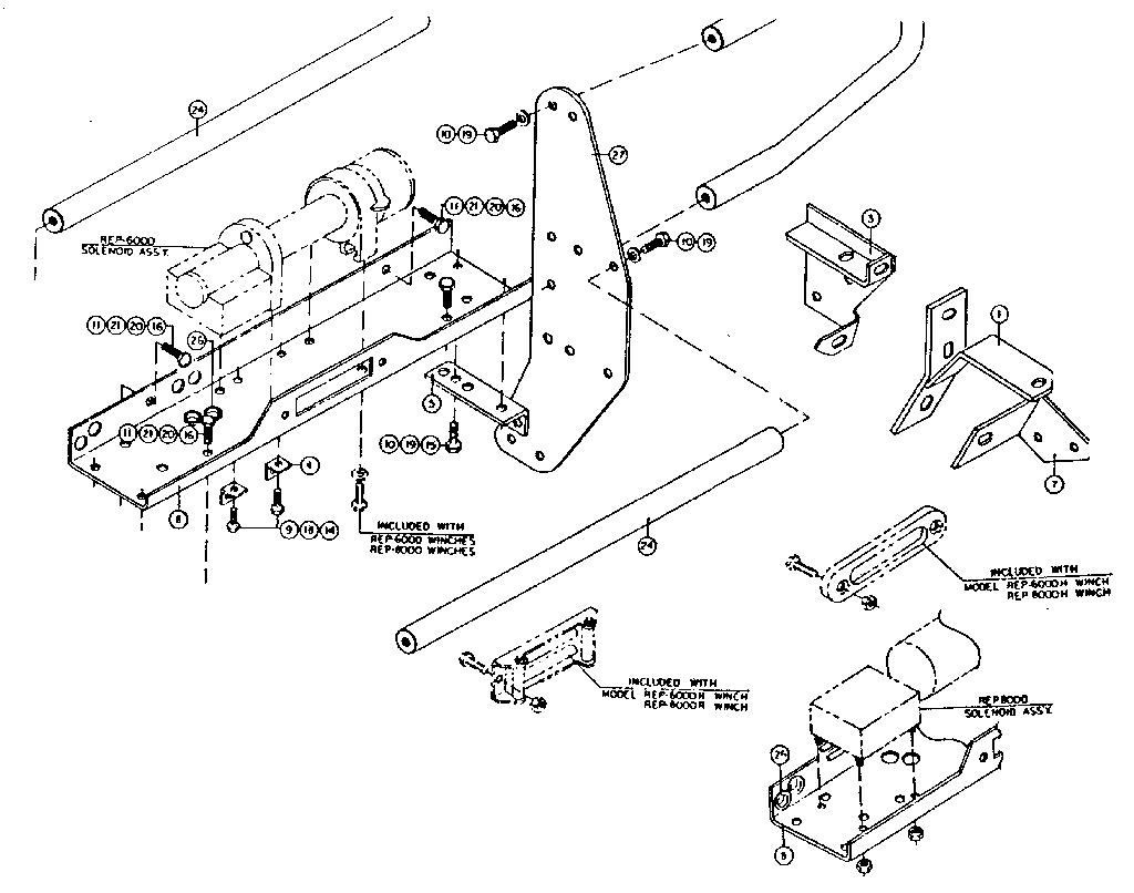 Craftsman model 3976 winch genuine parts