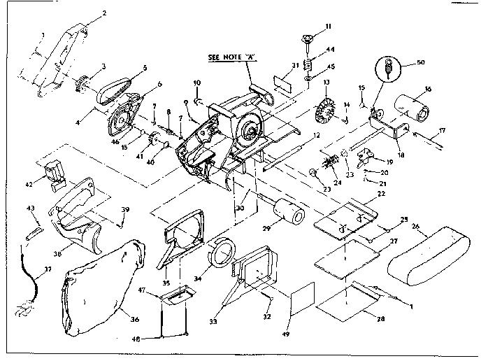 CRAFTSMAN CRAFTSMAN 3 INCH DUSTLESS BELT SANDER Parts