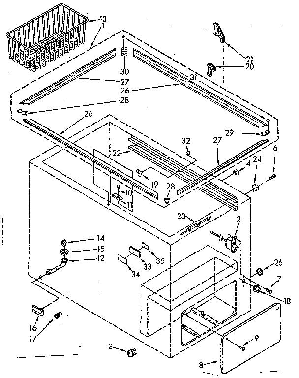 Kenmore model 1988151555 chest freezer genuine parts