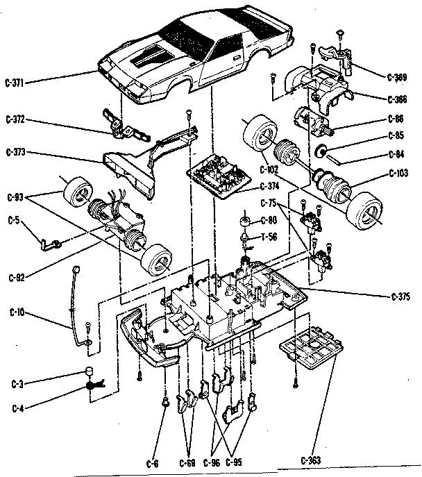 Sears model 54390 radio/remote control toys genuine parts