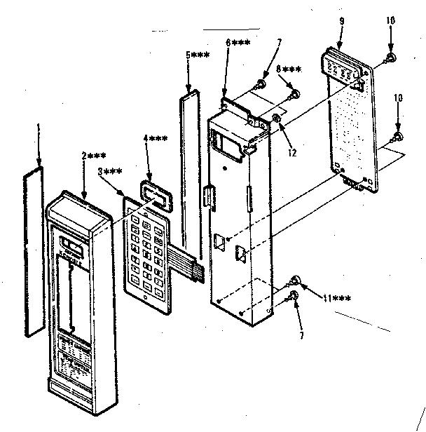 Kenmore model 5648778620 countertop microwave genuine parts