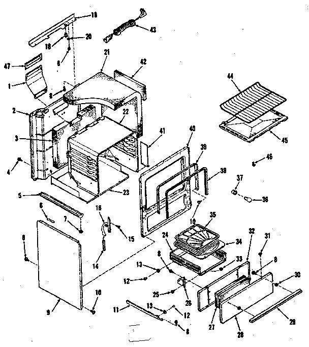 Kenmore model 9117218510 range (gas) genuine parts