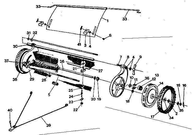 Craftsman model 42624095 lawn sweeper genuine parts