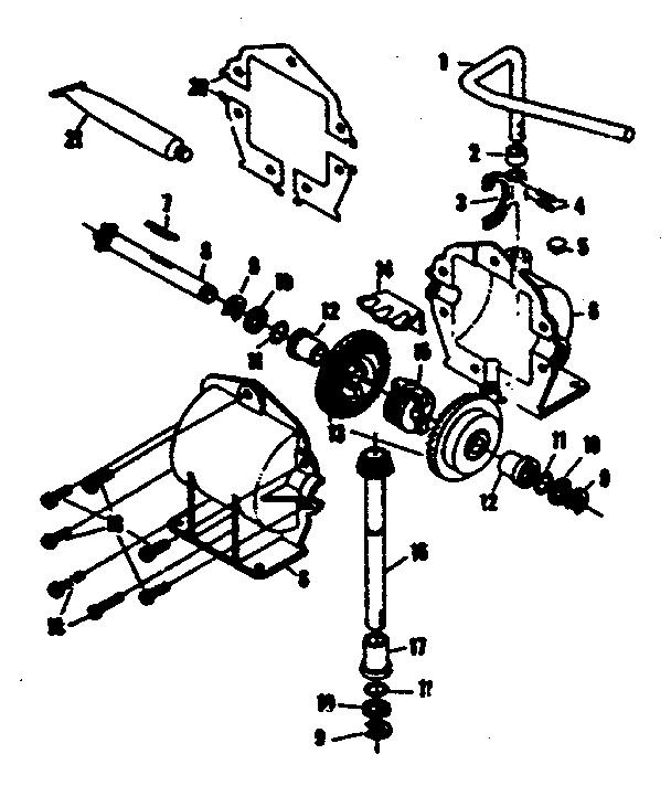 Craftsman model 1318010 lawn, riding mower rear engine