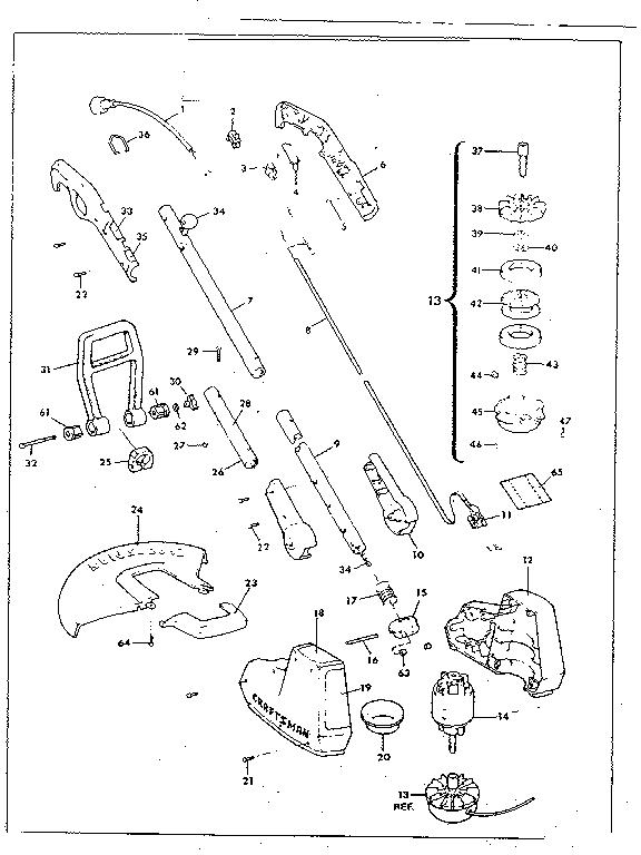 Craftsman model 257796040 line trimmers/weedwackers