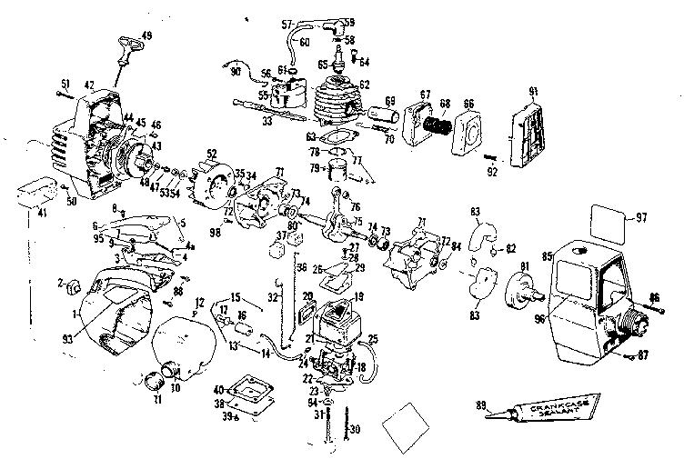 Craftsman model 358795520-1980 line trimmers/weedwackers