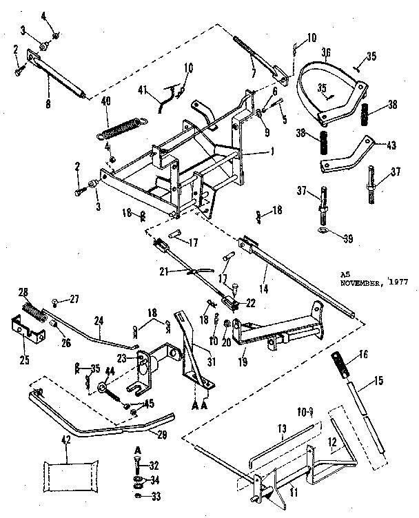 Craftsman model 84226007 snow thrower attachment genuine parts