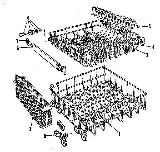 Kenmore model 587798711 dishwasher genuine parts