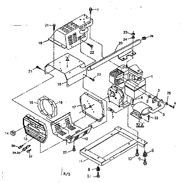 Craftsman model 580328183 generator genuine parts