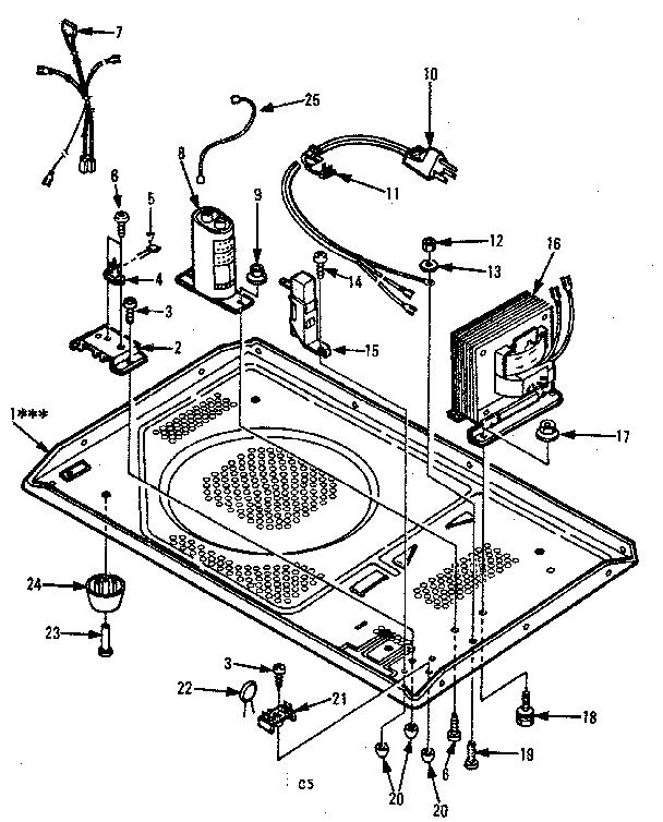 Kenmore model 5658778610 countertop microwave genuine parts
